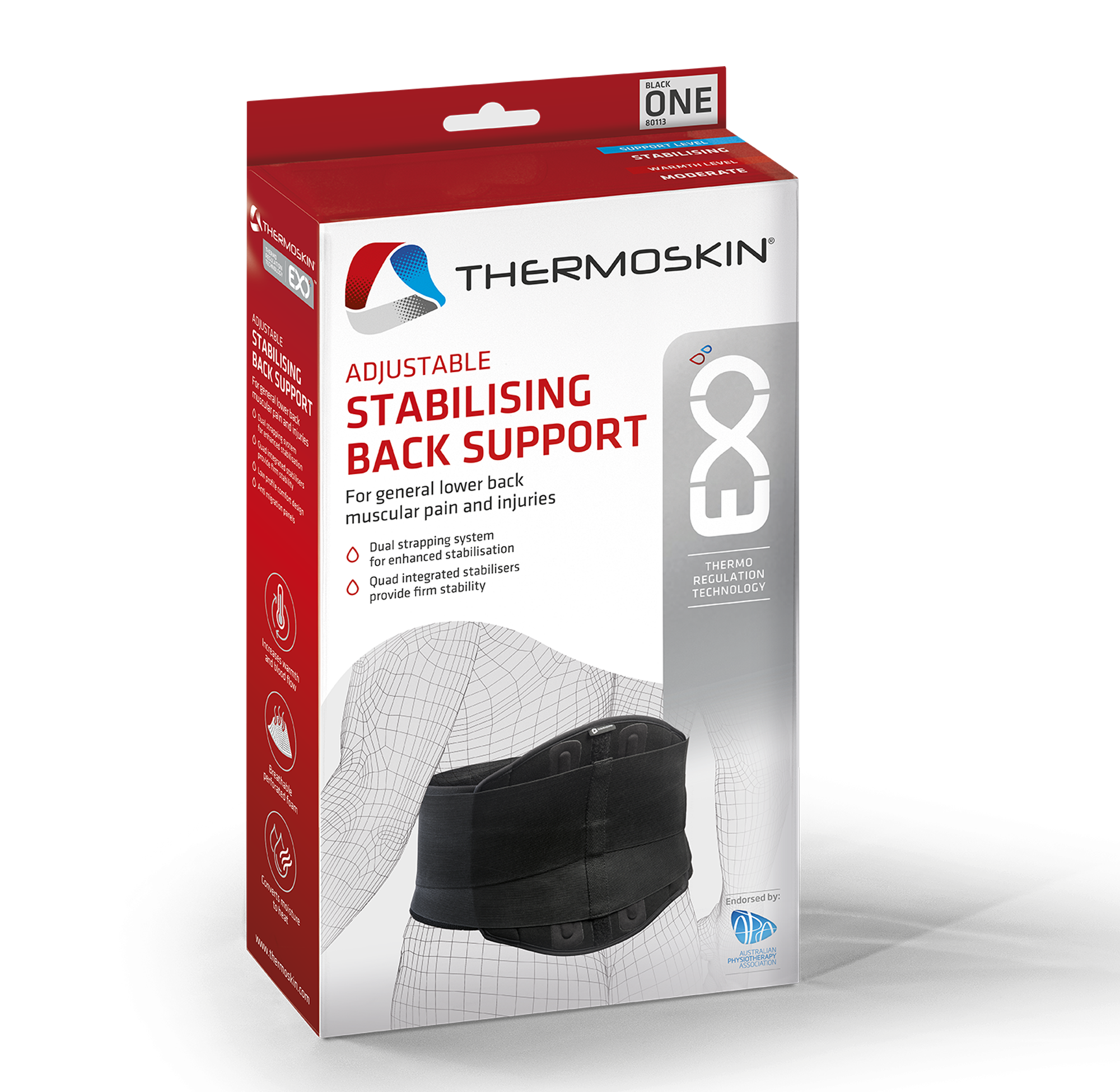 Thermoskin EXO™ Adjustable Stabilising Back Support - 80113