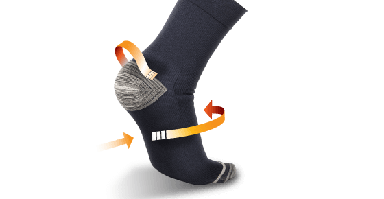 Thermoskin Plantar FXT Compression Socks Crew - 8*603